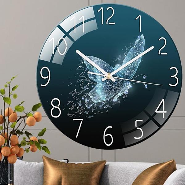 時鐘 帝斕網紅鐘表客廳掛鐘時鐘家用靜音臥室石英鐘現代創意歐式掛表 歐歐