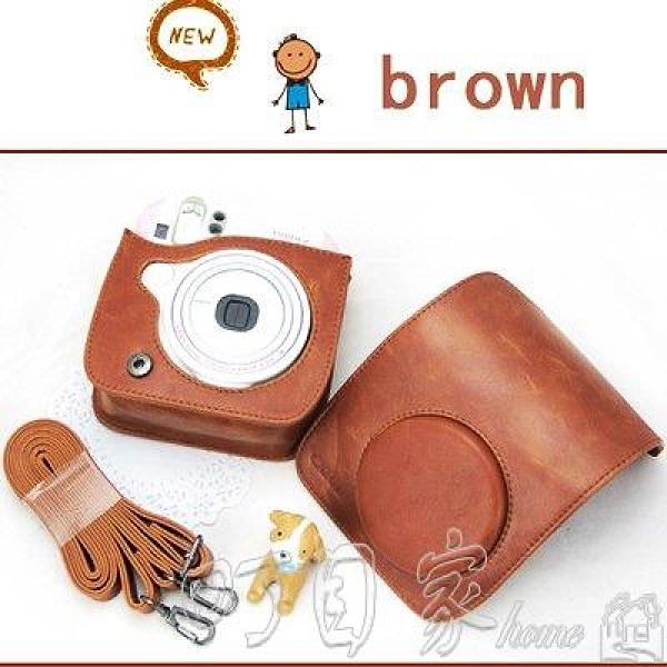 免運相機包拍立得相機皮包mini8257090mini9復古棕色凸蓋相機包XZND 新年特惠