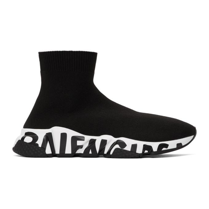 Balenciaga 黑色 Speed 袜式运动鞋