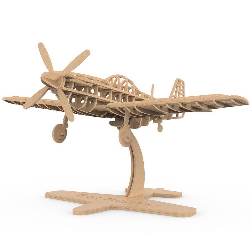 P-51 Mustang 野馬 (1944) - 飛行骨架結構木模型 (1/32)
