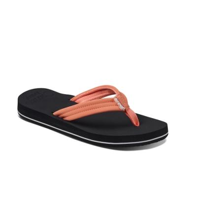 REEF 拖鞋 高科技織帶 人字夾腳 女款 黑紅 RF001454COR