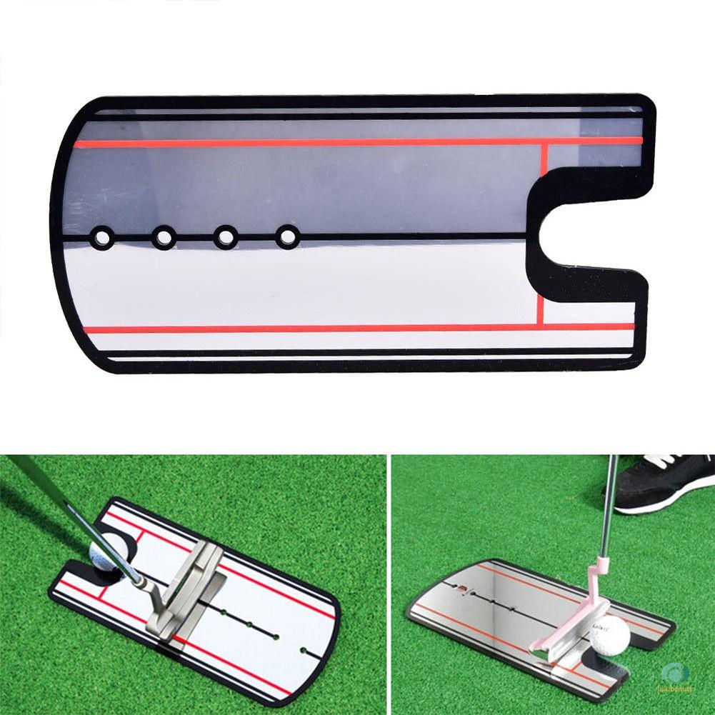 1塊高爾夫推桿鏡練習眼線對準練習便攜式教練輔助球桿