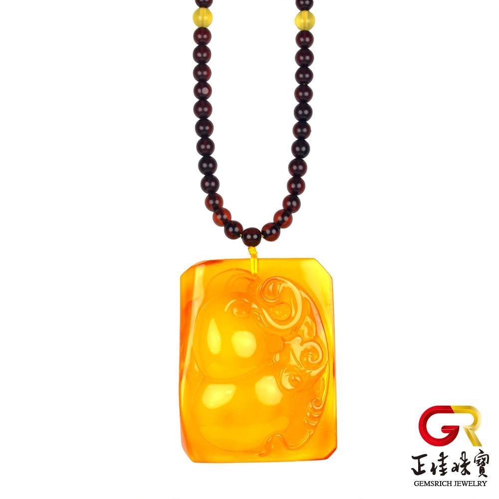 琥珀金包蜜金絞蜜 頂級手工雕刻 單一雕件 雙面福到 金絞蜜吊墜 琥珀吊墜 特製棉繩 正佳珠寶