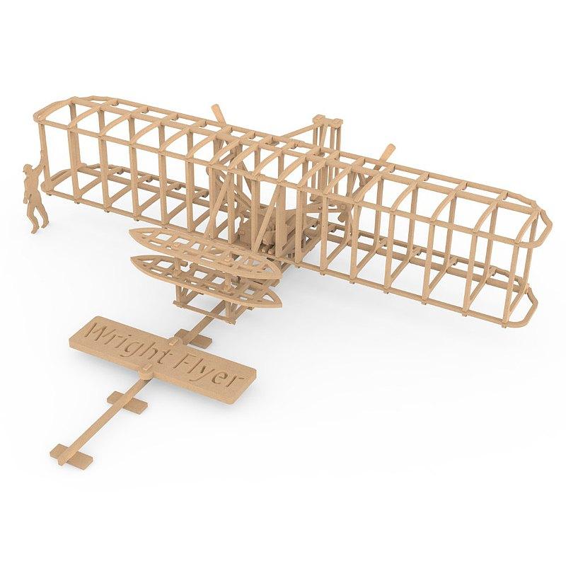 Wright Flyer (1903) 美國萊特飛行器 - 骨架結構木模型 (1/32)