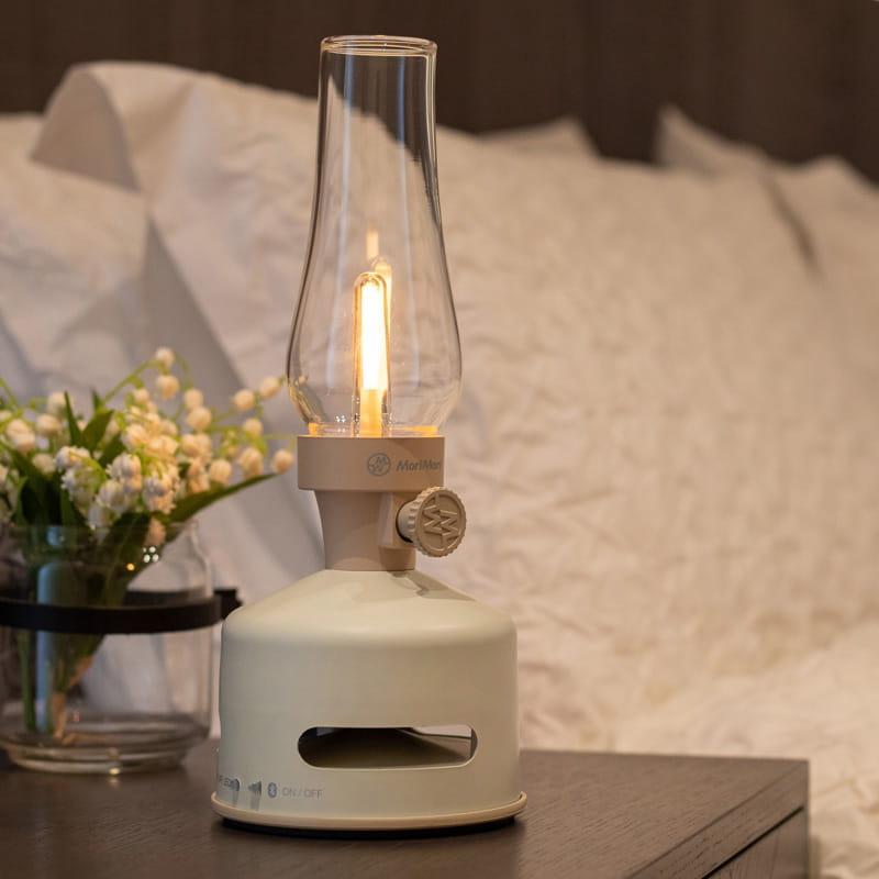 【MoriMori】戶外露營 LED煤油燈藍牙音響-白色