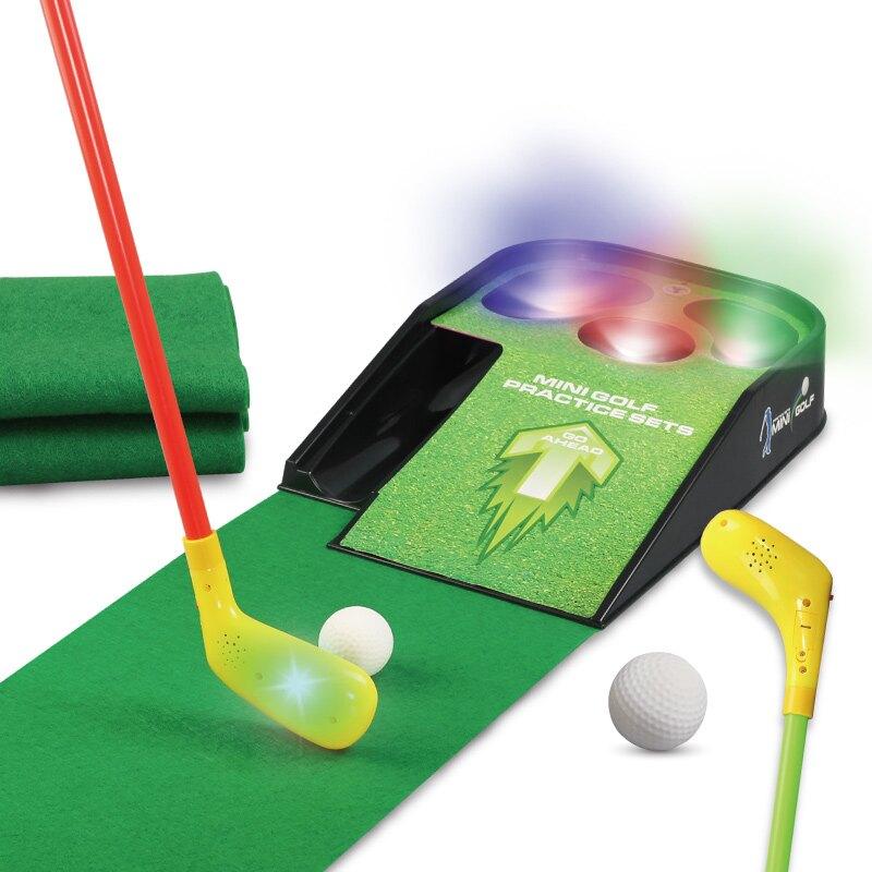 【限時下殺!85折!】閃光音樂兒童高爾夫球套裝戶外室內運動幼兒園寶寶推杆玩具練習器