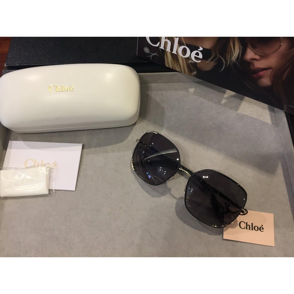 CHLOE CE109S時尚皮革細框太陽眼鏡