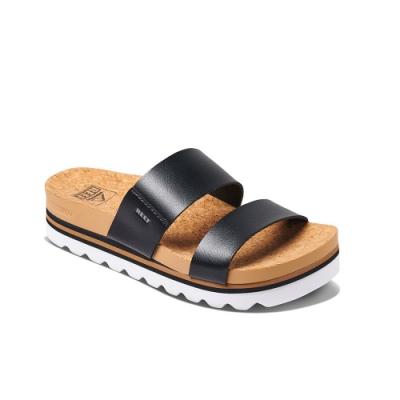 REEF 拖鞋 兩片式織帶 厚底 女款 黑 RF0A3YP5BLA