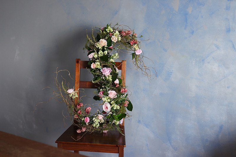 永生花架構字母壁飾 新婚禮物 開幕花禮 入厝禮