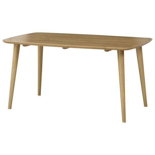 ◎實木餐桌 NUTS TW 150 LBR 橡膠木 NITORI宜得利家居
