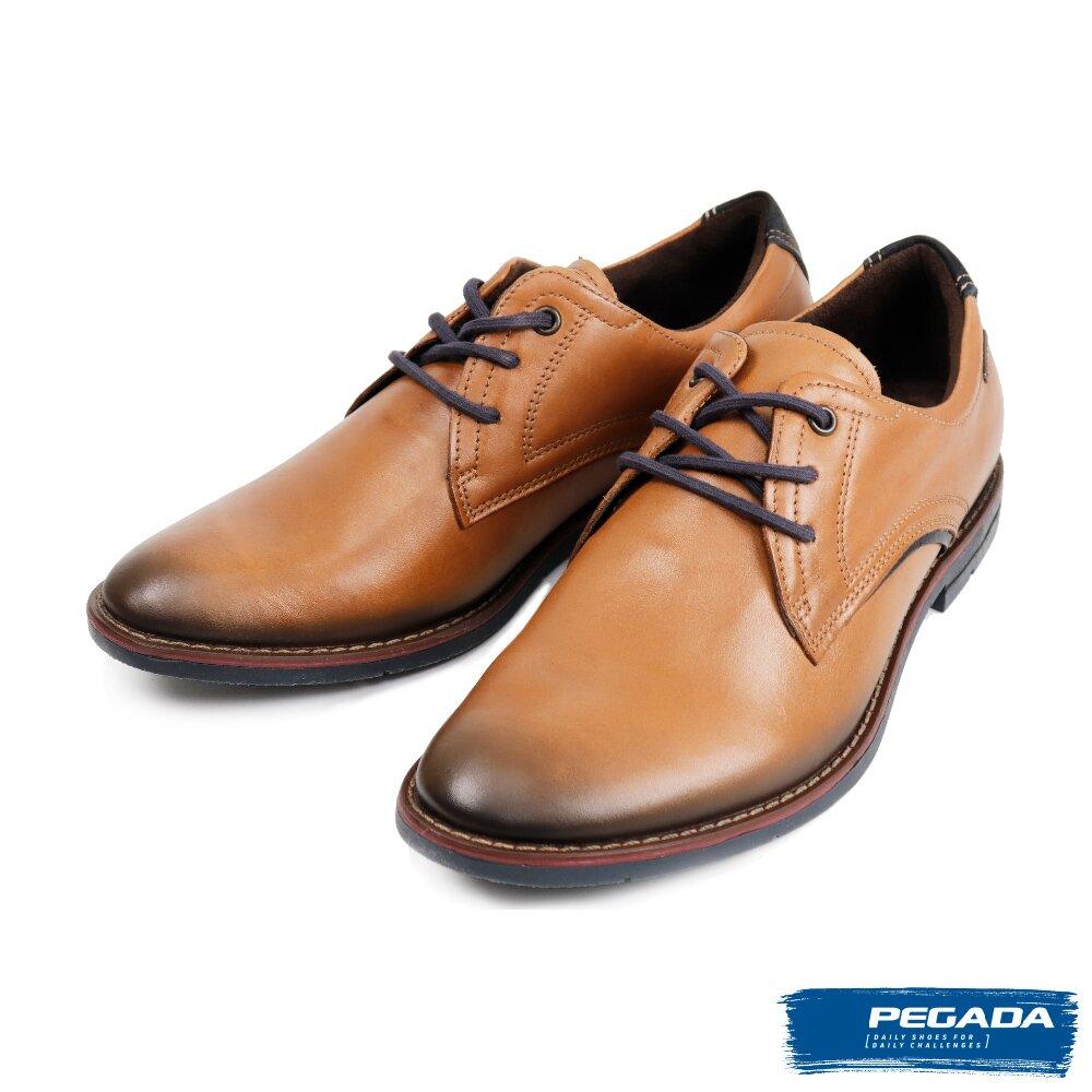 【PEGADA】巴西名品輕量休閒德比鞋 咖啡色(121978-BR)