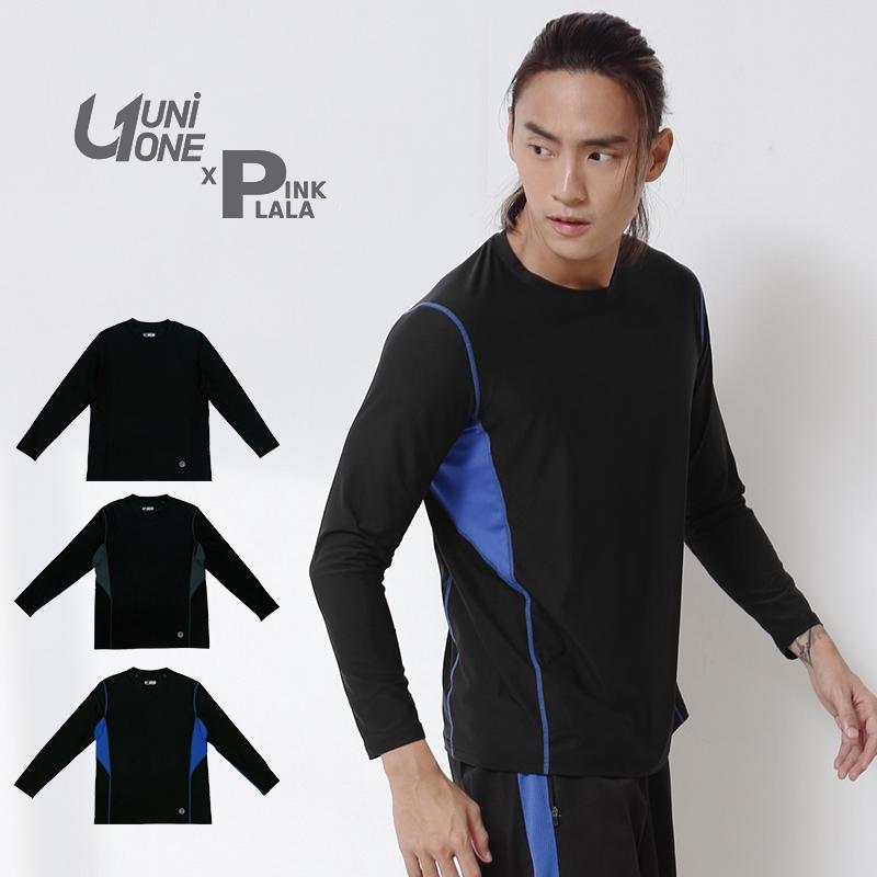 UNIONE【PUNI517001】MIT 台灣製造 剪接風格 印花機能長T 舒適好穿 長袖T恤 M-XXL 粉紅拉拉