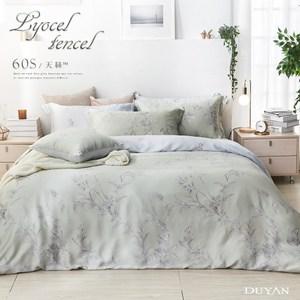 《DUYAN 竹漾》60支天絲雙人床包被套四件組-御茶凝香 台灣製