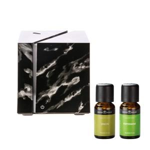 (組)立方黑武士香氛水氧機x1+SH美國精油-檸檬&薄荷