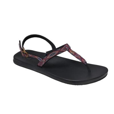 REEF 涼拖鞋  編織織帶彈力鞋 夾腳拖 人字拖 女款 黑 RF0A3VDLAME