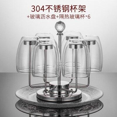 杯架-杯架水杯掛架創意家用杯子架304不銹鋼瀝水杯架收納玻璃杯置物架
