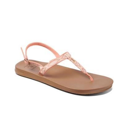 REEF 涼拖鞋  編織織帶彈力鞋 夾腳拖 人字拖 女款 珊瑚紅 RF0A3VDLCBD