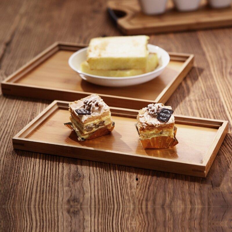 茶盤竹托盤長方形面包盤歐式實木質托盤茶杯托盤酒店端菜餐盤家用