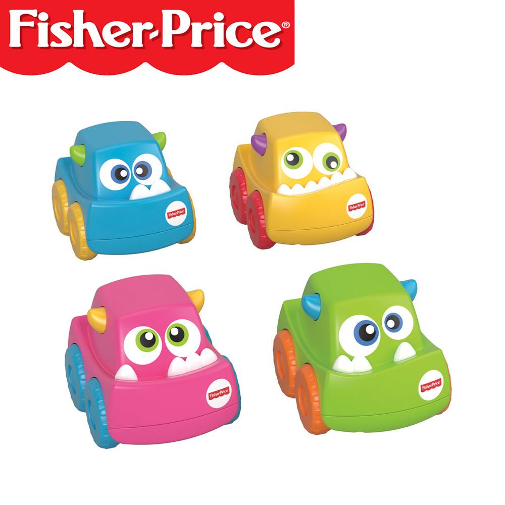 fisher-price 費雪 可愛怪獸迷你小車 玩具 藍 綠 粉 黃