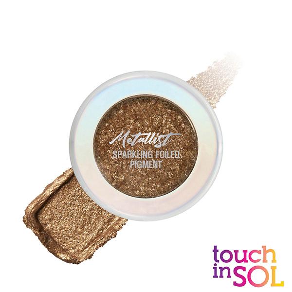 【韓國Touch in SOL】金屬色煥彩星光眼影粉1.3g #2蜜桃棕