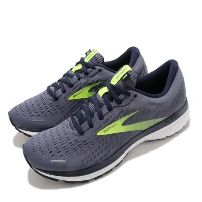 Brooks 慢跑鞋 Ghost 13 運動 男鞋 路跑 緩震 DNA科技 透氣 健身 球鞋 灰 黃 1103481D055