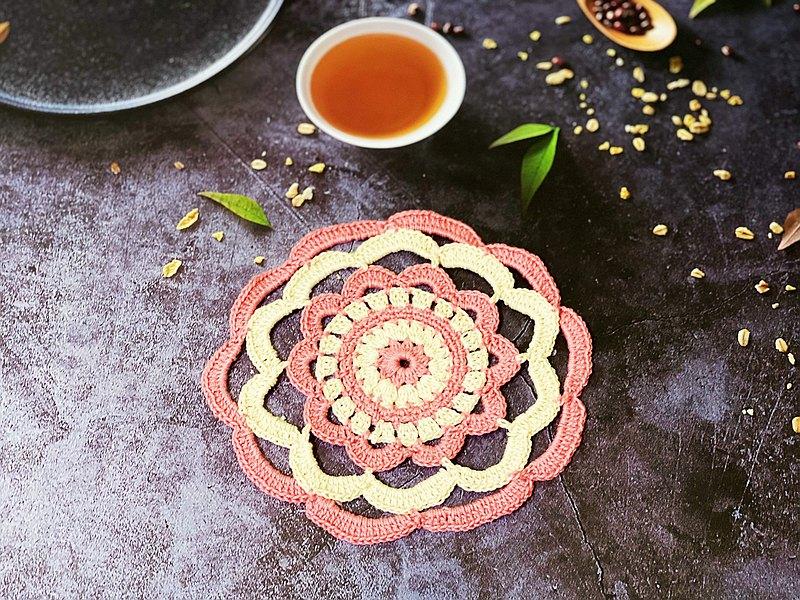 桌墊 杯墊 隔熱墊 茶托 咖啡杯 茶杯 懷舊復古 交換禮物 毛線鉤織