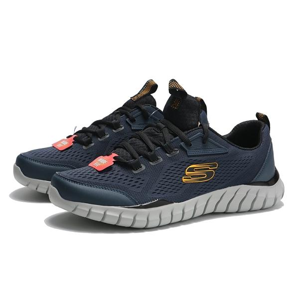 SKECHERS 慢跑鞋 OVERHAUL 2.0 深藍灰 網布 寬楦 透氣 男 (布魯克林) 232013WNVYL