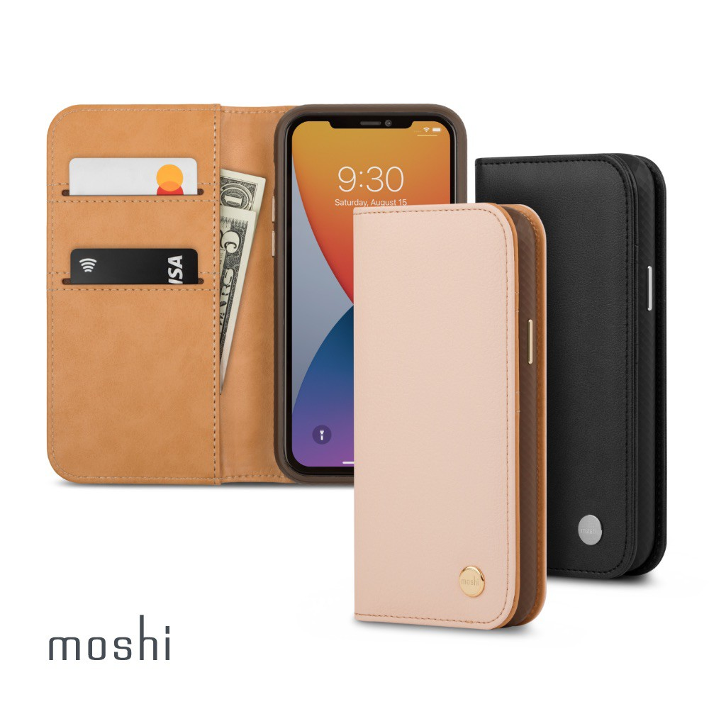 Moshi Overture for iPhone 12 Pro Max磁吸可拆式卡夾型皮套