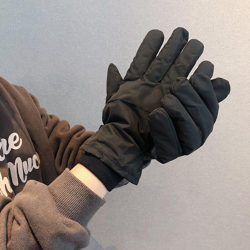 機車手套 冬天男士保暖刷毛加厚手套男冬季防滑防風防寒分指騎車摩托車手套『J9182』