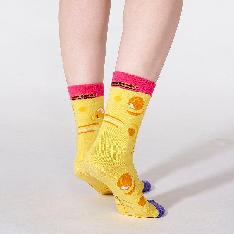 幾米 忘記親一下 。風中跳舞 1:1 刺繡襪  (孩童/大人)