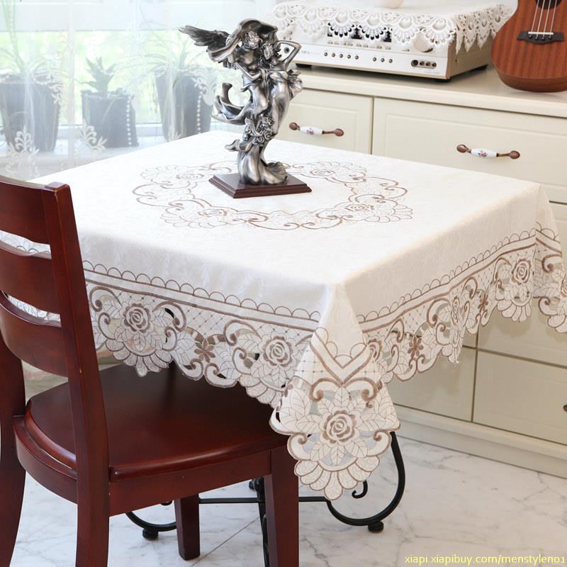 歐式茶幾桌布布藝長方形客廳家用餐桌布方桌正方形臺布桌墊圓桌大 2/2