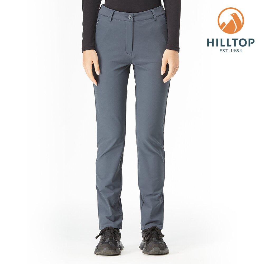 【hilltop山頂鳥】女款超潑水彈性保暖長褲H31FM2印墨色