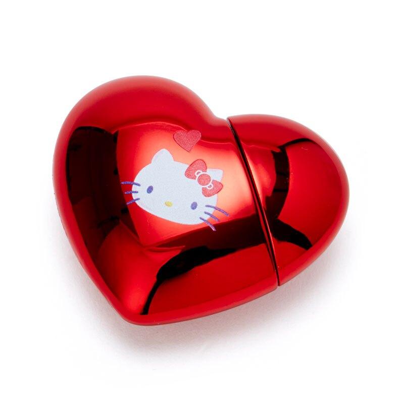 【領券折$30】小禮堂 Hello Kitty 愛心造型亮面唇釉 香氛唇釉 保濕唇釉 唇膏 唇蜜 櫻桃香 (紅)