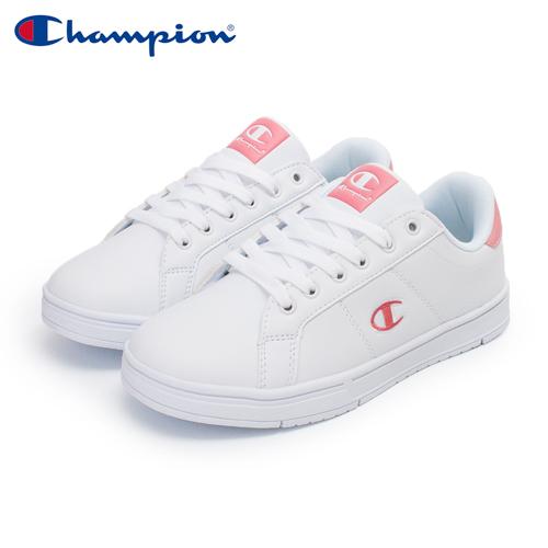 【Champion】CC Tennis 2 運動休閒鞋 女鞋-白/粉(WFUS-0010-05)