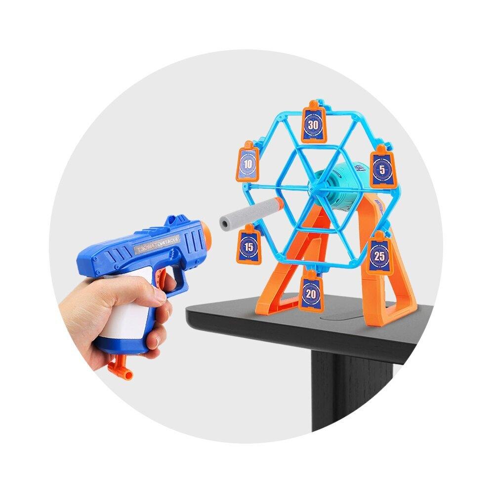 電動旋轉摩天輪鏢靶安全軟彈槍(下拉省力上膛)(3358)【888便利購】