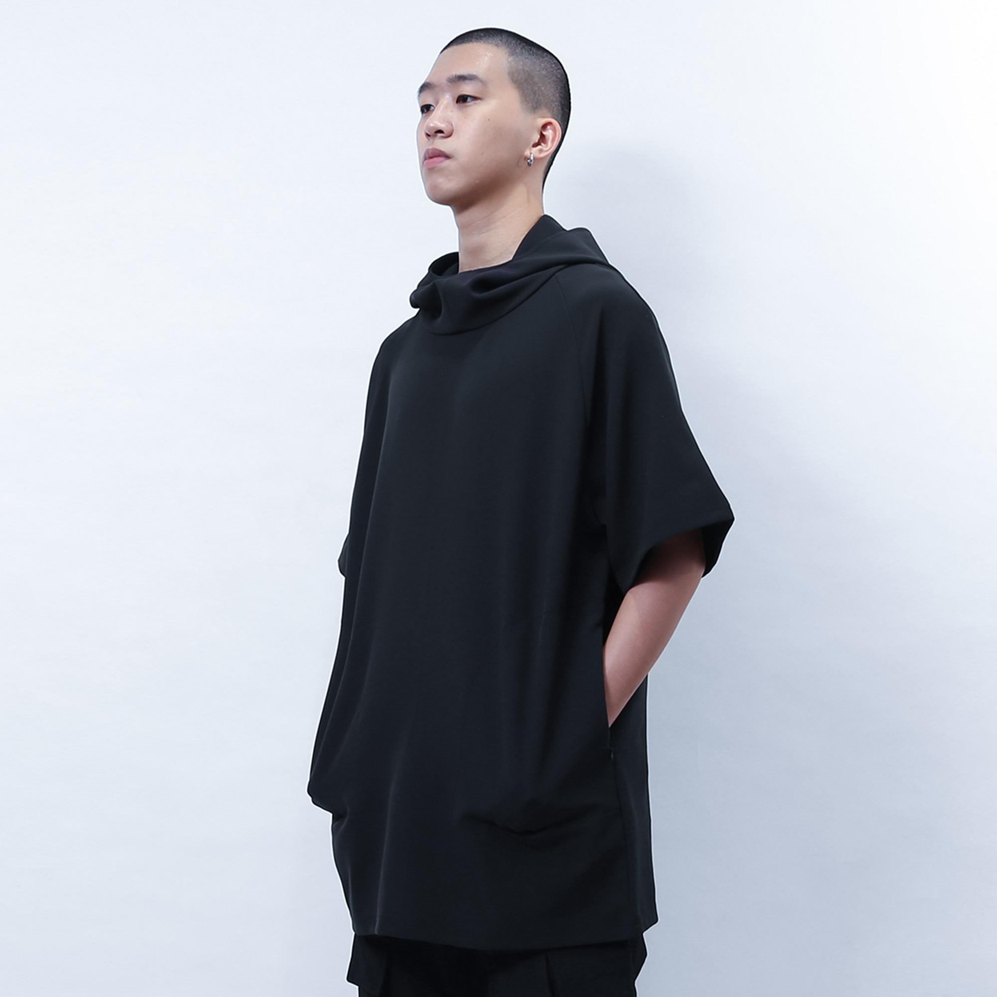 【ionism】連帽T-shirt黑