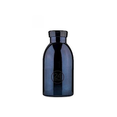 義大利24Bottles 不鏽鋼雙 層保溫瓶 330ml - 黑金