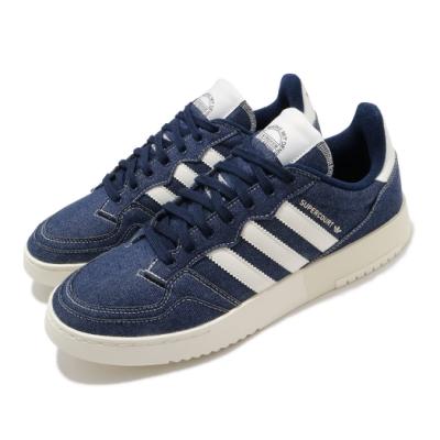 adidas 休閒鞋 Supercourt 復古 男女鞋 愛迪達 三葉草 牛仔布 板鞋 穿搭 藍 米 FW4425