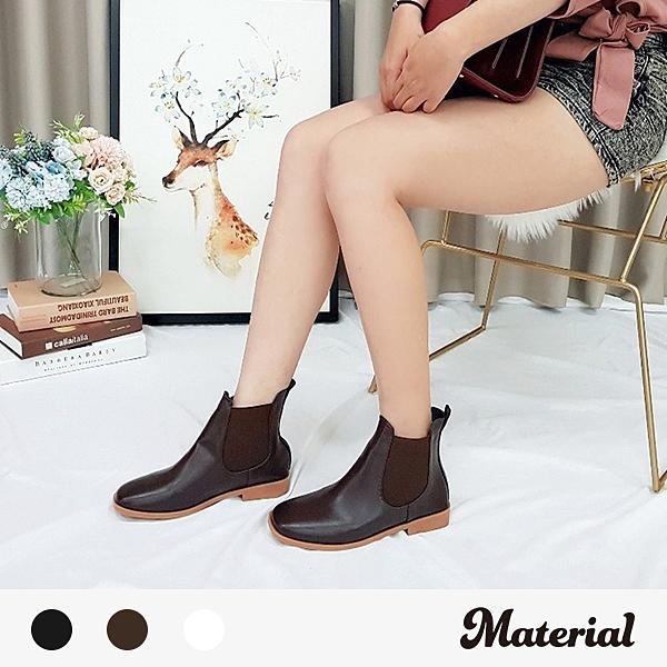 短靴 簡約素面方頭短靴 MA女鞋 T5198