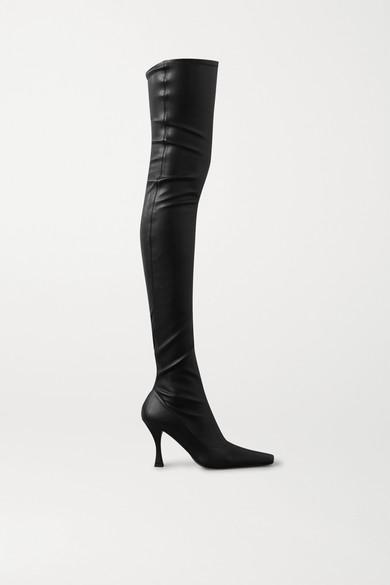 Proenza Schouler - 弹力皮革过膝长靴 - 黑色 - IT40