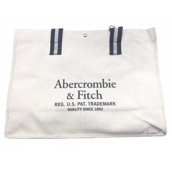 Abercrombie & Fitch A&F 亞麻托特袋 黑皮TIME 68870