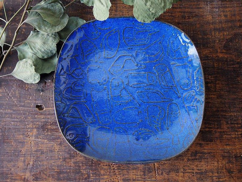 浮雕方板藍雀