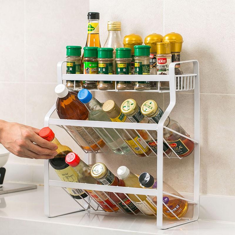 居家家調料置物架臺面調味品架調味料架子廚房用品家用大全收納架