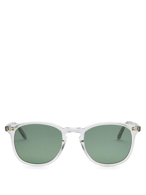 Garrett Leight - Kinney Square Acetate Sunglasses - Mens - Clear