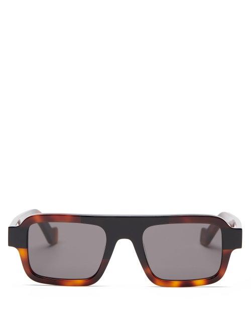 Loewe - Square Acetate Sunglasses - Mens - Black Multi