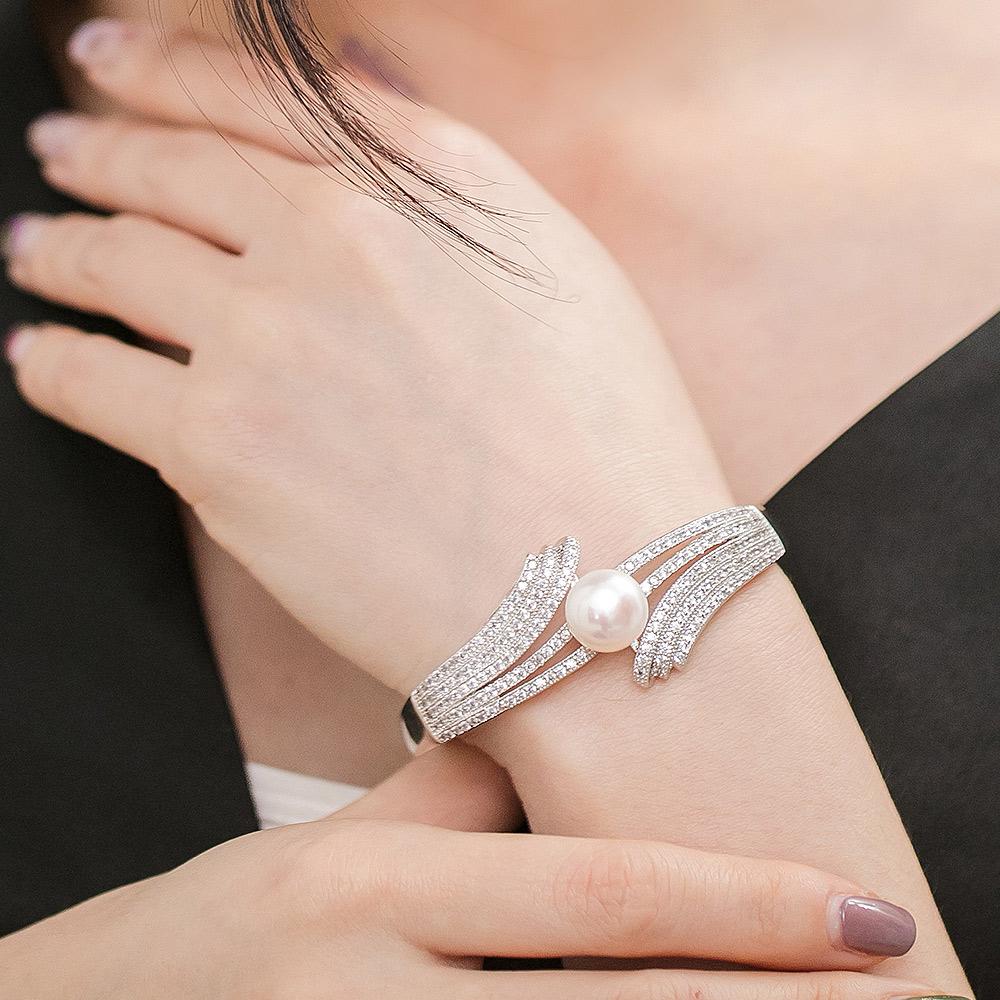 TOA輕奢耀眼珍珠手環(2色)-Z10002