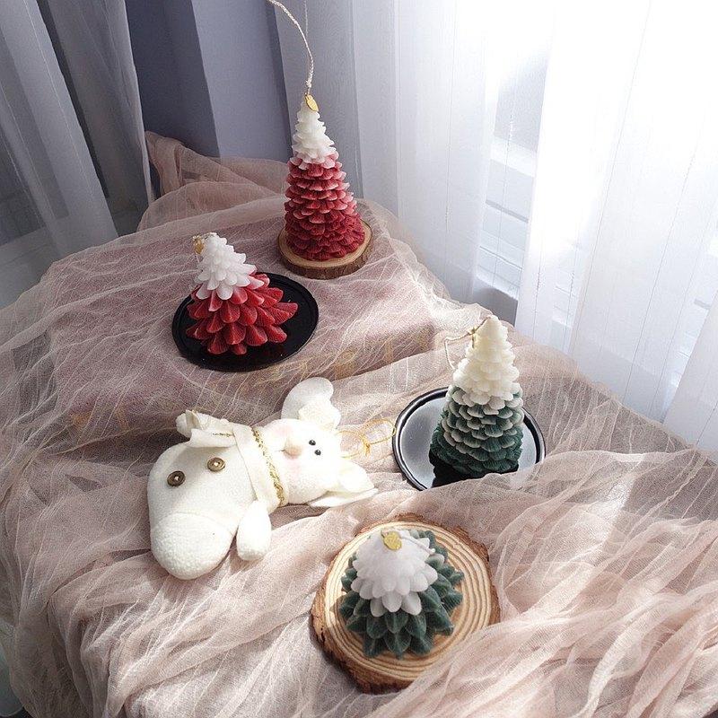 聖誕造型蠟燭 聖誕樹 香芬蠟燭 大豆蠟 擴香蠟燭 聖誕禮物