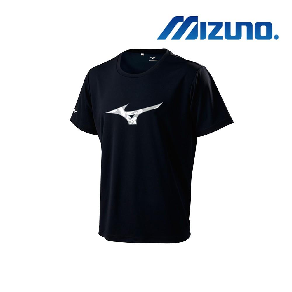MIZUNO 少年短袖T恤 黑色 32TA910109 運動 排汗 透氣