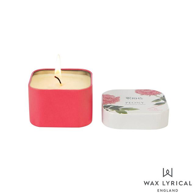 英國 Wax Lyrical 午後花園系列 Peony 牡丹 錫罐 130g 香氛蠟燭