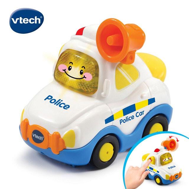 英國vtech嘟嘟聲光互動車-警車